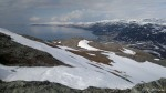 Fra Samuelstoppen er det en flott utsikt mot Birjastrand og Selkop.