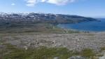 Utsikta fra toppen av Russefjellet, varden nede til venstre.