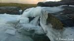 Isen har begynt å bygge seg opp i Kokelva