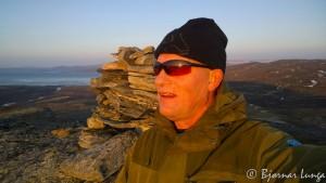 Selfie ved varden på Rottoppen