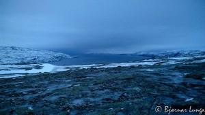 Som en kan se så er det mye is i terrenget