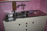 Kjøkkenkrana montert
