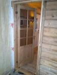 Ny dør mellom stue og gangen