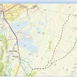 Omtrentlig rute og antall km, siden Sports Tracker svikta