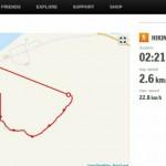 Kartet på Sports Tracker, returen fra varden via Rottelvbrua og hjem ble ikke registrert