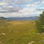 Pause i fjellsiden av Russefjellet