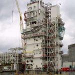 Kjøltårnet på prosessanlegget