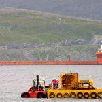 Blue Marlin har levert sin last og har hevet seg, og snart klar for avgang Hammerfest
