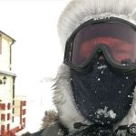 Vel hjemme og fikk mye motvind og snø- og haglbyger