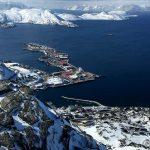 Utsikt mot Indre Rypefjord og Polarbase