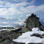Den lille varden helt oppe på Russefjellet