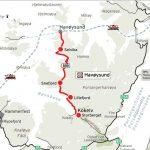 Kart over turistvegen som starter med utkikkspunktet Storberget