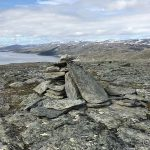Varden øverst oppe på Russefjellet