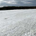 Krysset snøen, men det er helt topp å gå på snøen, spesielt i denne varmen