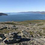 Utsikt mot Selkop og utløpet av Russelva