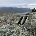 Varden helt oppe på Russefjellet