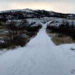 Snødekke på hele veien oppover