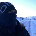 Fra Masterelv og til krysset mot Havøysund var det ganske sterk vind, må jo beskytte mitt vakre tryne 😳