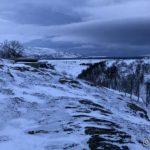 Utsikt nedover Russelva fra Storberget