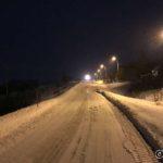 Snart ved Masterelva og snøfresen har akkurat passert kjøre oppover bakken