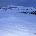 Men ved Storberget var det såpass med snø at æ ikke giddet å grynne bort til benkene