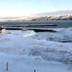 Fjærasjø nå og all isen ligger spredd utover elvebunnen