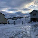 Etter turen til Olderfjord og butikken gikk æ innom naboen med posten før æ starta på turen