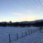 Måtte ta et bilde av gudshuset aka kirka mens sola har gjømt sæ bak fjellene