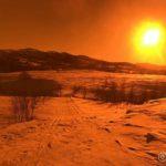 Rottelvbrua, sett gjennom BlueBlokker solbriller