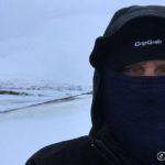 Måtte ta tubeskjerfet over munn og nese, da kald vind og kols ikke er kompatibel