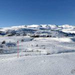 På tur mot Rottelvbrua, måtte ta et bilde mot Permyra og hjellebakken