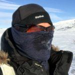 Fortsatt veldig kald motvind, og utpusten har frosset til is