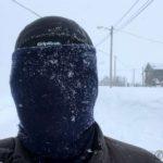 Fikk mye snø rett i auan, så derfor denne testen, klarte å se, men ikke godt nok