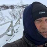 Vinden blåste opp da æ gikk til Rottelvbrua, derfor denne bekledningen
