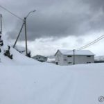 Masterelv og det er kommet en del snø nå