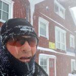 ..måtte bare ta en selfie først for å gi innblikk i at æ ar gått i motvind og snø