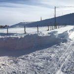 Da æ kom hjem var det bare å hive sæ i å få fjernet snøen for garasjen/fjøsen