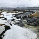 Har sett enkelte isklumper nede i elva, så det er vel ikke så lenge før en skikkelig isgang