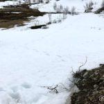 Var ned ved brua kor æ sakk litt, så æ måtte tømme ut snø ut av skoene etterpå