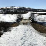 All snøen på Rottelvbrua har smeltet vekk