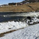 Isen samlet sæ på Ivarberget i går kveld