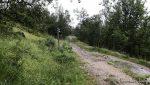 En benk ved krysset Gammelveien-Jansvannbakken var høvelig til rasten