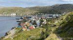 Sentrum av Hammerfest og MS Nordkapp ligger ved kai