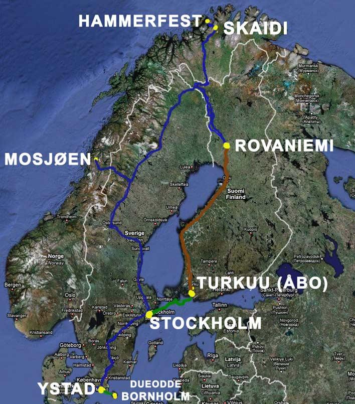 kart norden kjørerute Ferien 2003   Bornholm   Velkommen til Lunga.net kart norden kjørerute