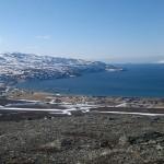 Kokelv, sett fra Russefjellet, nu e det bare nedoverbakker.