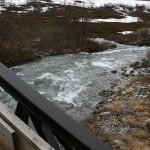 Elva under brua på rasteplassen innerst i Lillefjord
