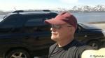 Parkert bilen nedenfor hytta til han Svein og Jon Are, og klar for instant klatring