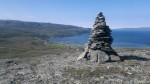 Varden litt lenger ned på Russefjellet, populært turmål for bygdas befolkning.