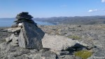 På toppen av Russefjellet en varde som æ fiksa litt på.