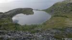Vann ved siden av siste topp, artig form på det.